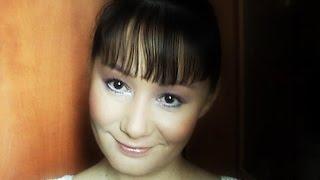 Вечерний макияж в фиолетовых тонах для наплывающего или азиатского века. Видео-инструкция