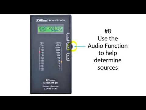 Quick Summary: How to Use the Acoustimeter to Measure Radio Frequency Fields