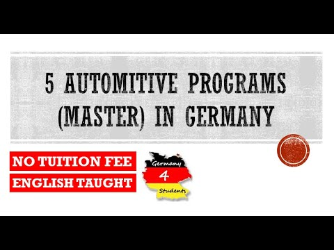 5 Master Programs in Automotive Engineering in Germany   MS in Germany   5 Tuition Free Programs