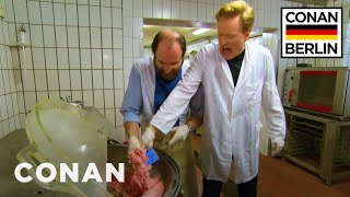 Conan Trains To Become A Sausage Master  - CONAN on TBS - Video Youtube