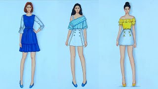 Fashion Sketches Dresses Compilation