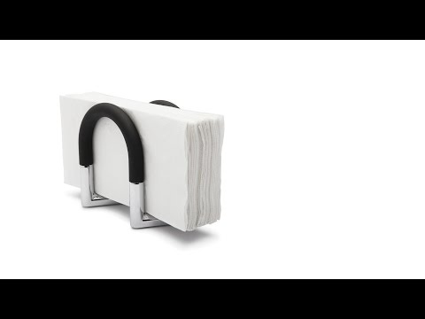 Video for Swivel Black and Nickel Napkin Holder