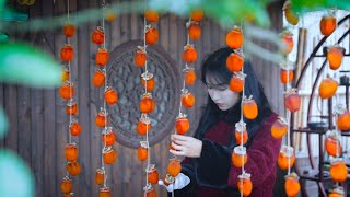 Video : China : Red persimmon fruit