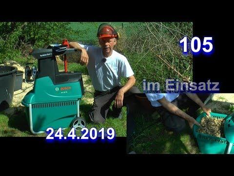 Bosch Leise Häcksler AXT 25 TC 2500 Watt so funktioniert der Häcksler im Test
