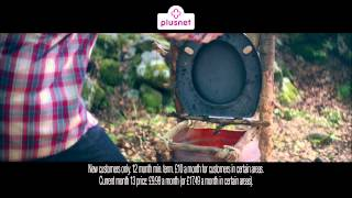 Plusnet Broadband That Loves You Back rudimentary toilet- £50 cashback Advert