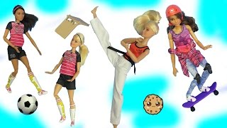 Scientist, Soccer Player, Skateboarder - Most Poseable Doll EVER Made To Move Barbie