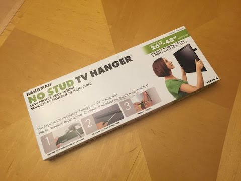 No Stud TV Hanger Mount by Hangman : UNBOXING & INSTALL VIDEO