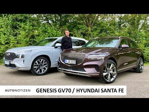 Genesis GV70 und Hyundai Santa Fe: Korea kann SUV und Premium! Review   Test   Vergleich   2021