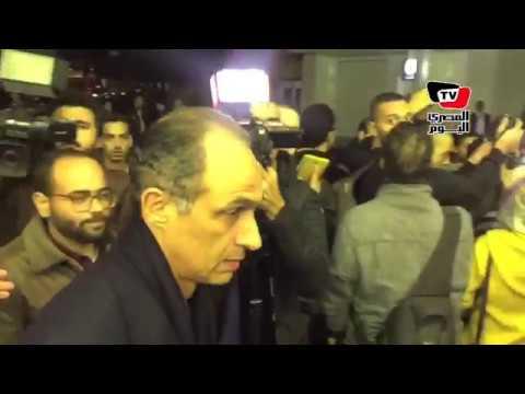 جمال مبارك يشارك في عزاء إبراهيم نافع
