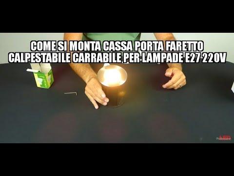 Come si monta CASSA PORTA FARETTO CALPESTABILE CARRABILE PER LAMPADE GU10 220V