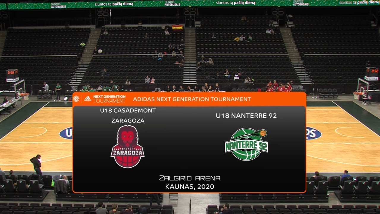 U18M - BASKET ZARAGOZA vs NANTERRE-92.- Euroleague. Adidas Next Generation Tournament (Kaunas 2020)
