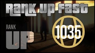 GTA V Online - How To Rank Up & Make Money Fast - Solo RP Method (Works: May 2018) | Zelkiroth