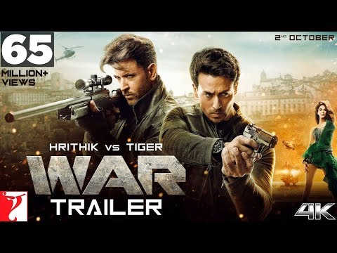 War Movie Trailer | Hrithik Roshan | Tiger Shroff | | Releasing 2 oct.Songs Studio