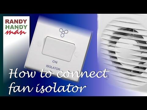 Bathroom fan timer switch isolator installation connection.
