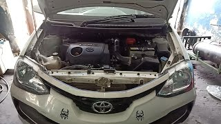 HOW NEW TOYOTA  ETIOS COROLA YARIS D4D ENGINE OIL FILTER AND OIL REPLACE SERVICE