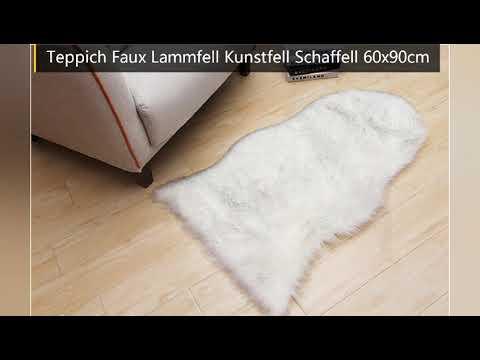 Faux Lammfell Schaffell Teppich 90x60cm