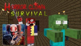 Monster School :HORROR CLOWN SURVIVAL- Minecraft Animation