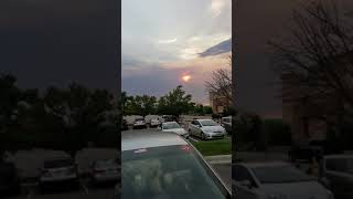 The sun is red today