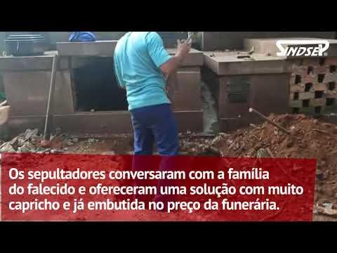 Sindicato mostra a situação no cemitério Campo Grande