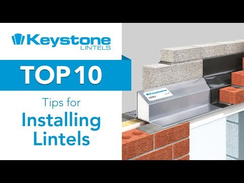Top 10 tips on installing a Lintel, with Keystone Lintels
