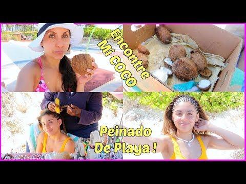 Encontre Mi Rico Coco 🌴🥥😋 A Emily le Hicieron Trencitas De Playa 😍 - ♡IsabelVlogs♡