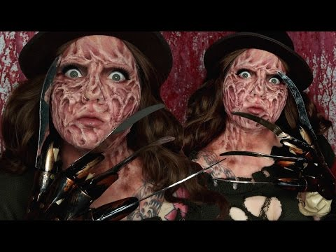 Freddy Krueger Special FX Halloween Costume Makeup Tutorial