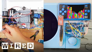 Engineer Builds a Tetris Microwave That Only Cooks While You Play (ft. Allen Pan) | Hack Job