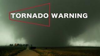 TORNADO WARNING - Close Call with Rain Wrapped Beast!