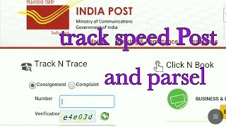 how to track speed Post ,parsal track consignment