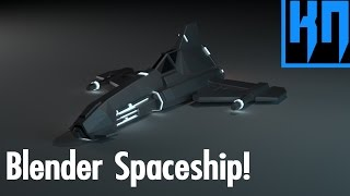 Blender 2 8 Spaceship Modelling | Container Ship - hmong video