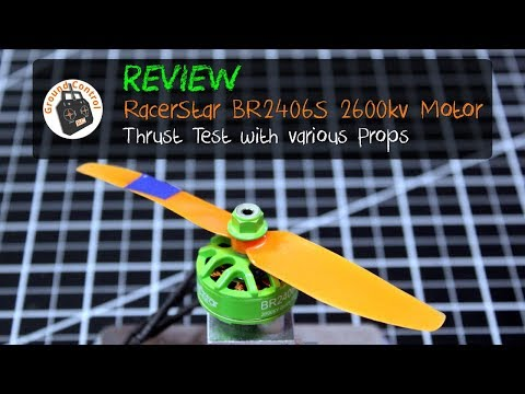 Review & Thrust Test - RacerStar BR2406S 2600kv 2S-4S Motor
