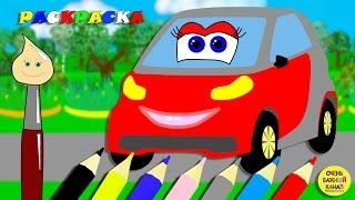 Волшебная кисточка, раскраска «Машинка Лёля», учим цвета! Развивающие мультики про машинки