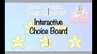Interactive Choice Board Tutorial Using Google Slides