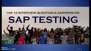 SAP All modules FAQs on Testing