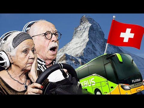 SERPENTINEN Fahrt mit dem SKYLINER durch die SCHWEIZ | Fernbus Simulator | Senioren Zocken!!!