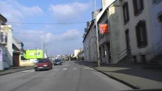 preview picture of video 'Driving Along Avenue Charles de Gaulle & Avenue Victor Hugo, Carhaix-Plouguer, Brittany, France'