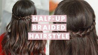 Valentine's Day Half Up Braided Hairstyle