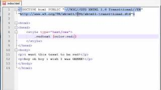 XHTML and CSS Tutorial - 30 - Styling Using Classes