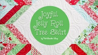 Joyful Jelly Roll Tree Skirt - Fat Quarter Shop
