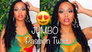 EASY JUMBO PASSION TWIST TUTORIAL! DETAILED + 4C HAIR FRIENDLY