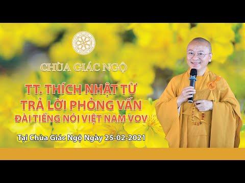 TT. Nhật Từ trả lời phỏng vấn của Đài Tiếng nói Việt Nam VOV