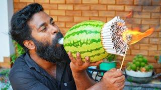 สูบบุหรี่ 1,000 มวนผ่านแตงโม   തണ്ണിമത്തൻ 1,000 സിഗരറ്റ് വലിച്ചപ്പോൾ   M4 TECH  