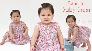 How To Sew A Baby Dress - Free Pattern