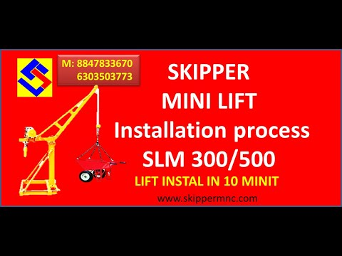 SKM 500 Monkey Lift Mini Crane