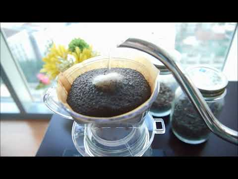 Japanese style of pour-over coffee