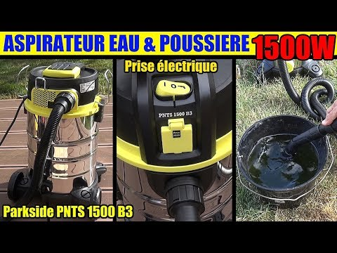 aspirateur eau et poussiere lidl parkside pnts 1500 wet and dry vacuum cleaner