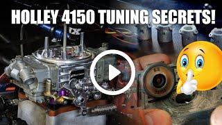 Holley 4150 Carburetor Tuning Secrets. Tune like a professional Redneck!