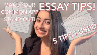 How to Write the Common App Essay/Essay Tips || Cecile S