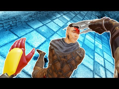 Iron Man and Wolverine vs Dumb Gladiators in Blade and Sorcery VR!