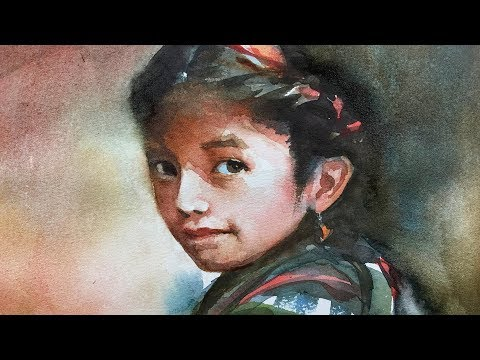 Portrait #104 - Watercolor Painting of a Young Girl with Critique (full lesson)